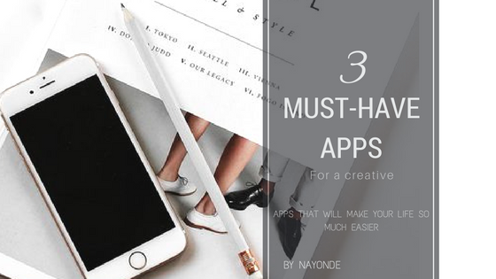 3 Must Have Apps for a Creative + A GIVEAWAY|TIPS