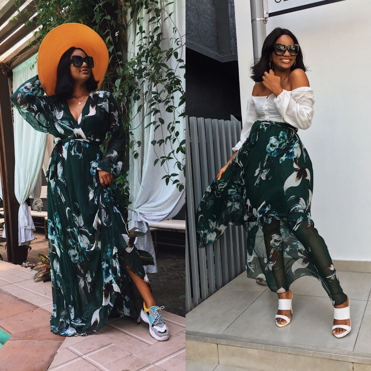 2 Ways to Wear the Green Leaf Vacation Maxi Dress, ThisthingcalledFashion