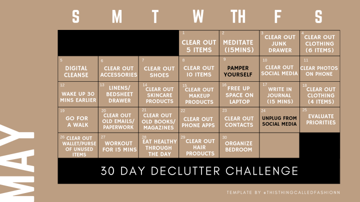 TTCF 30 days Declutter Challenge, Thisthingcalledfashion